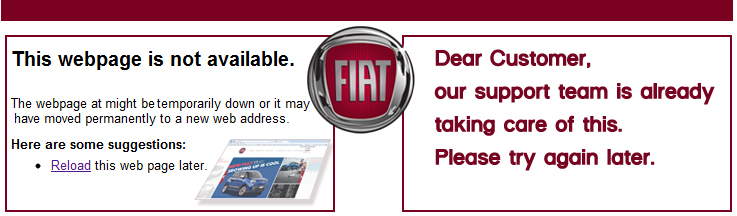 courtesypage website fiat