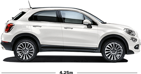 fiat 500x city look small suv 4x2 crossover car. Black Bedroom Furniture Sets. Home Design Ideas