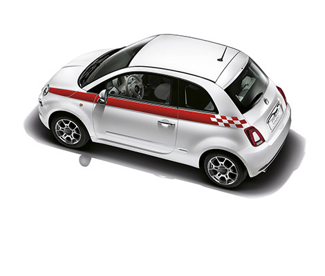 new fiat 500 personalising accessories. Black Bedroom Furniture Sets. Home Design Ideas