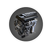 Fiat 124 spider engine icon