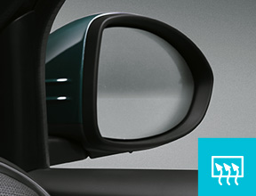 ELECTRICALLY ADJUSTABLE DOOR MIRRORS WITH DEFROST FUNCTION