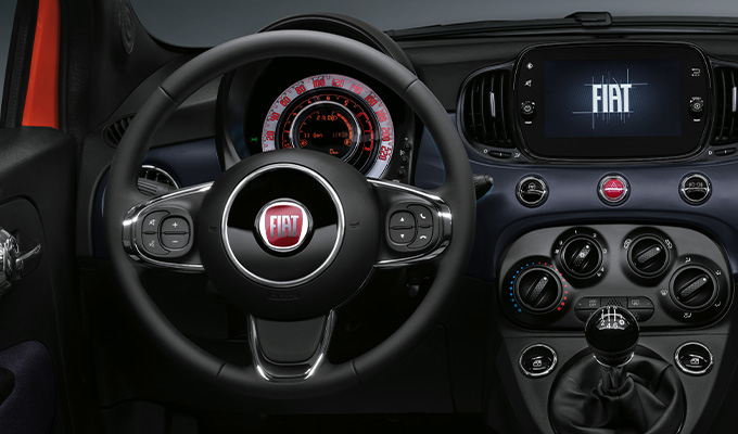 Eco-leather steering wheel with controls