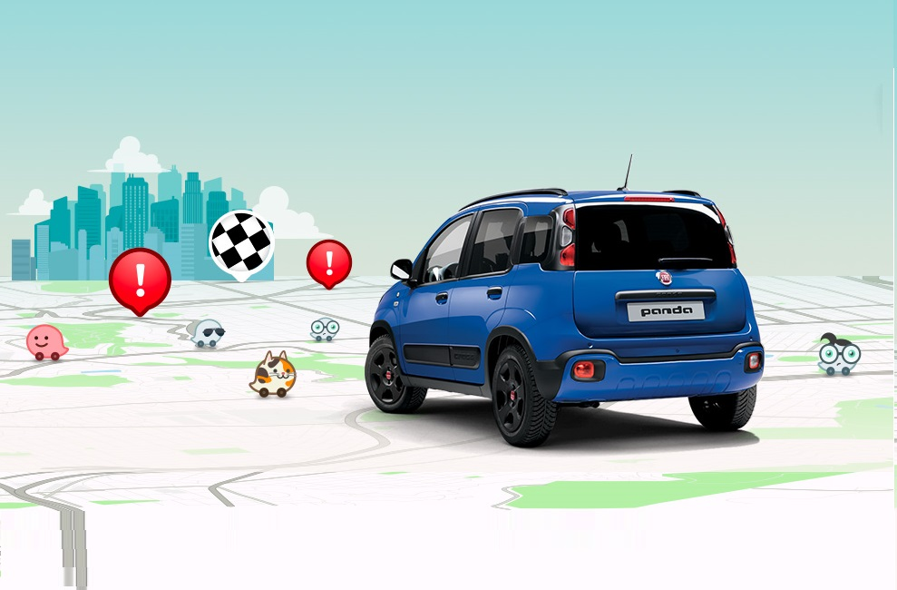 New Fiat Panda Waze – Uconnect app and Waze community   Fiat