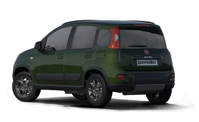 Fiat Panda 4x4 - Tuscany Green - Rear Left View