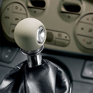 Fiat 500 White Leather Gear Knob