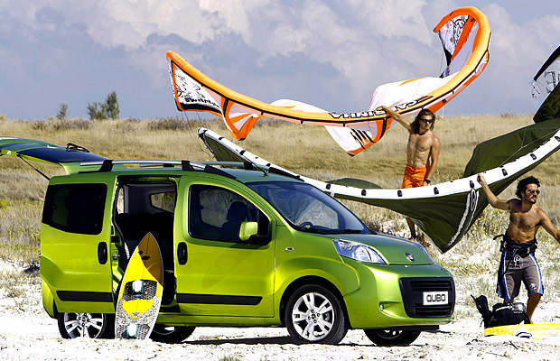 Fiat Qubo Beach Trip - Surf Boards