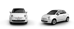 Fiat 500 Test Drive - Front and Side View