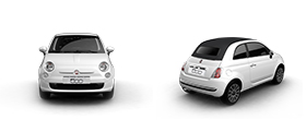 Fiat 500c Rear and Side View