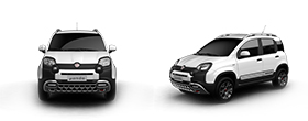 Fiat Panda Cross Test Drive - Front and Side View