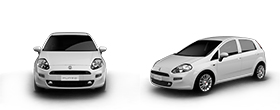Fiat Punto - Front and Left Side View